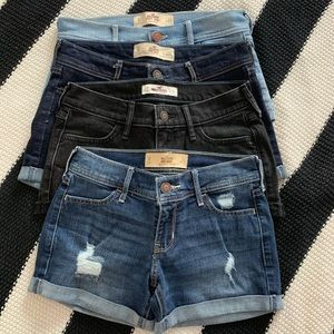 LIKE NEW four pairs Hollister shorts